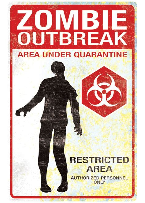 Zombie Outbreak Sign - Decorations