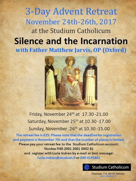 Advent Retreat in English from November 24 - Studium