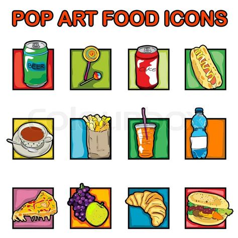 Classic clip art icons with