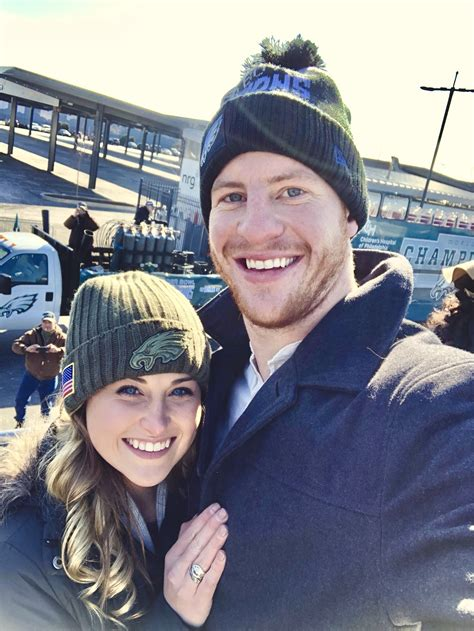 """Carson Wentz on Twitter: """"My Valentine for life! I'm the"""