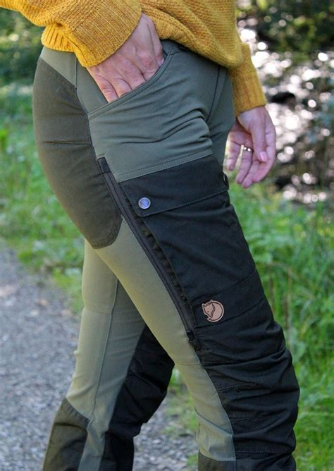 Fjällräven Keb Curved Trousers W deep forest-laurel green