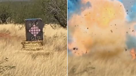 Gender Reveal Goes Wrong When Explosives Cause Arizona