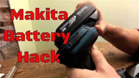 How To: Hack an old 18 volt Makita BL1815 for new Makita