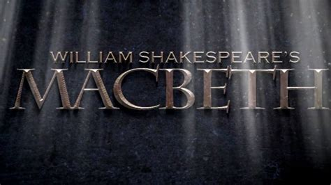 macbeth title sequence test - YouTube