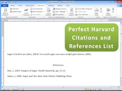 Create Harvard Citations and References List with