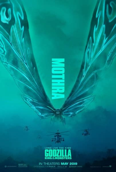 Godzilla: King of the Monsters Posters Unleash Ghidorah