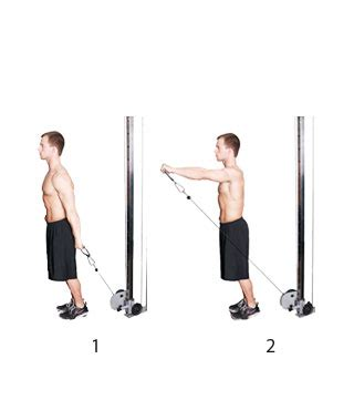 Cable Front Raise - Fitness-Oefeningen