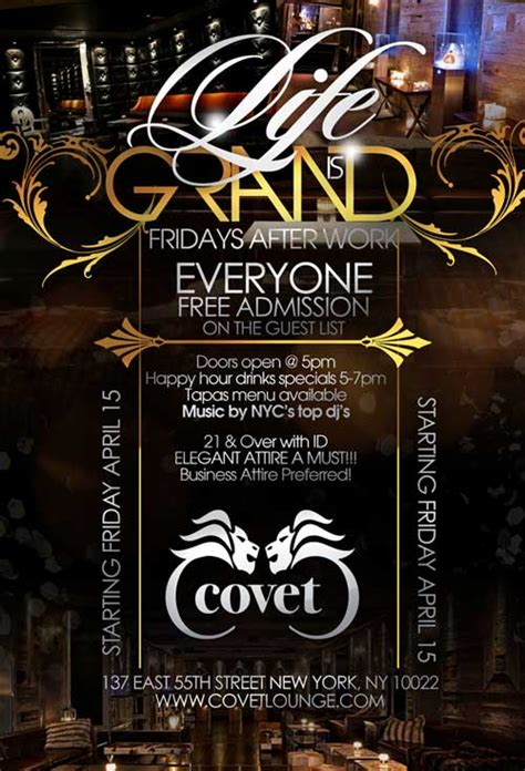 Friday After Work @ Covet Lounge NYC