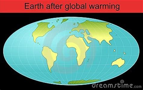 Whole Earth Globe After Global Warming Royalty Free Stock