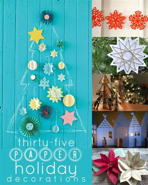 Remodelaholic | 35 Paper Christmas Decorations To Make