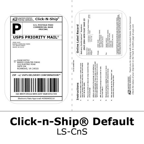 Blank Labels for Click-n-Ship®: No more taping on postage