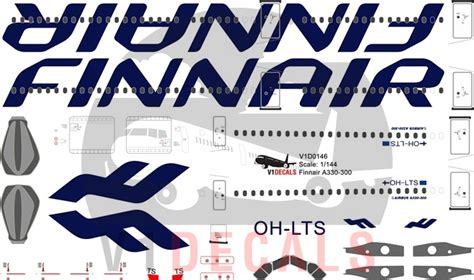 Finnair Airbus A330-300 (New Livery)   V1 Decals