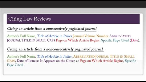 How to Cite Using Harvard Bluebook: Law Reviews - YouTube