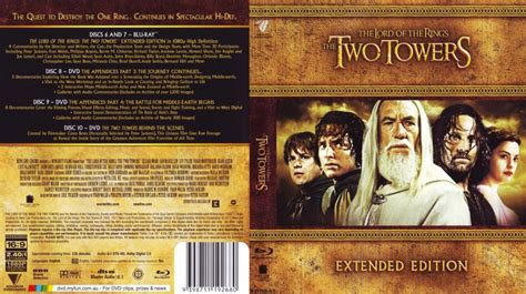 The Two Towers - Movie Blu-Ray Scanned Covers - The Lord
