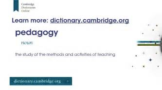 How to say pedagogy (with definition) - YouTube