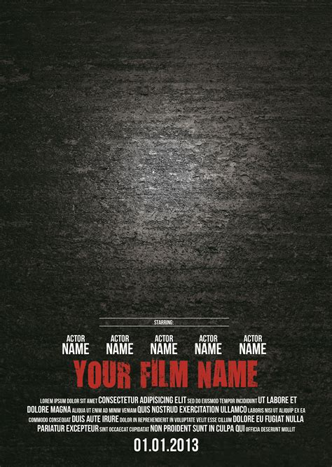 28 Images of Movie Poster Template For Microsoft Word