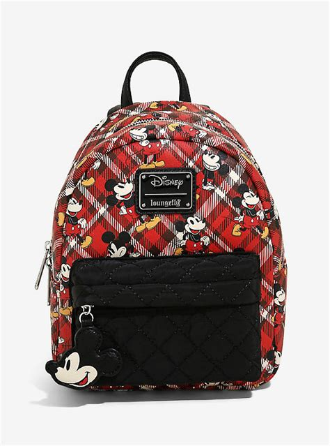 Loungefly Disney Mickey Mouse Plaid Mini Backpack