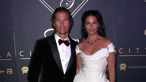 Matthew McConaughey Sweetly Honors Wife Camila Alves While